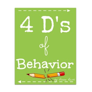 4 D's of Behavior Poster Pack