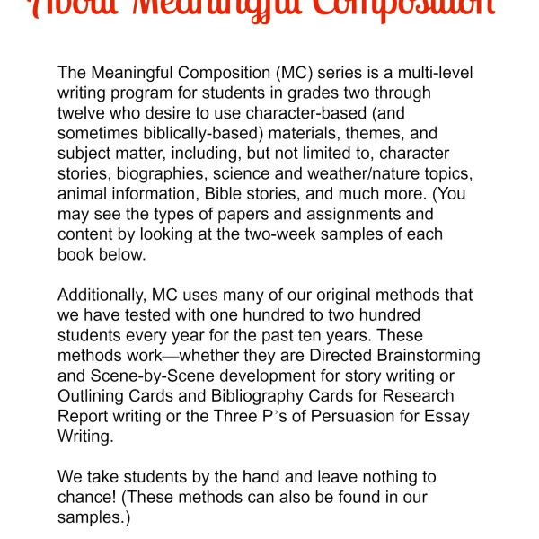About Meaningful Composition