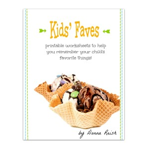 Kid's Faves Worksheets