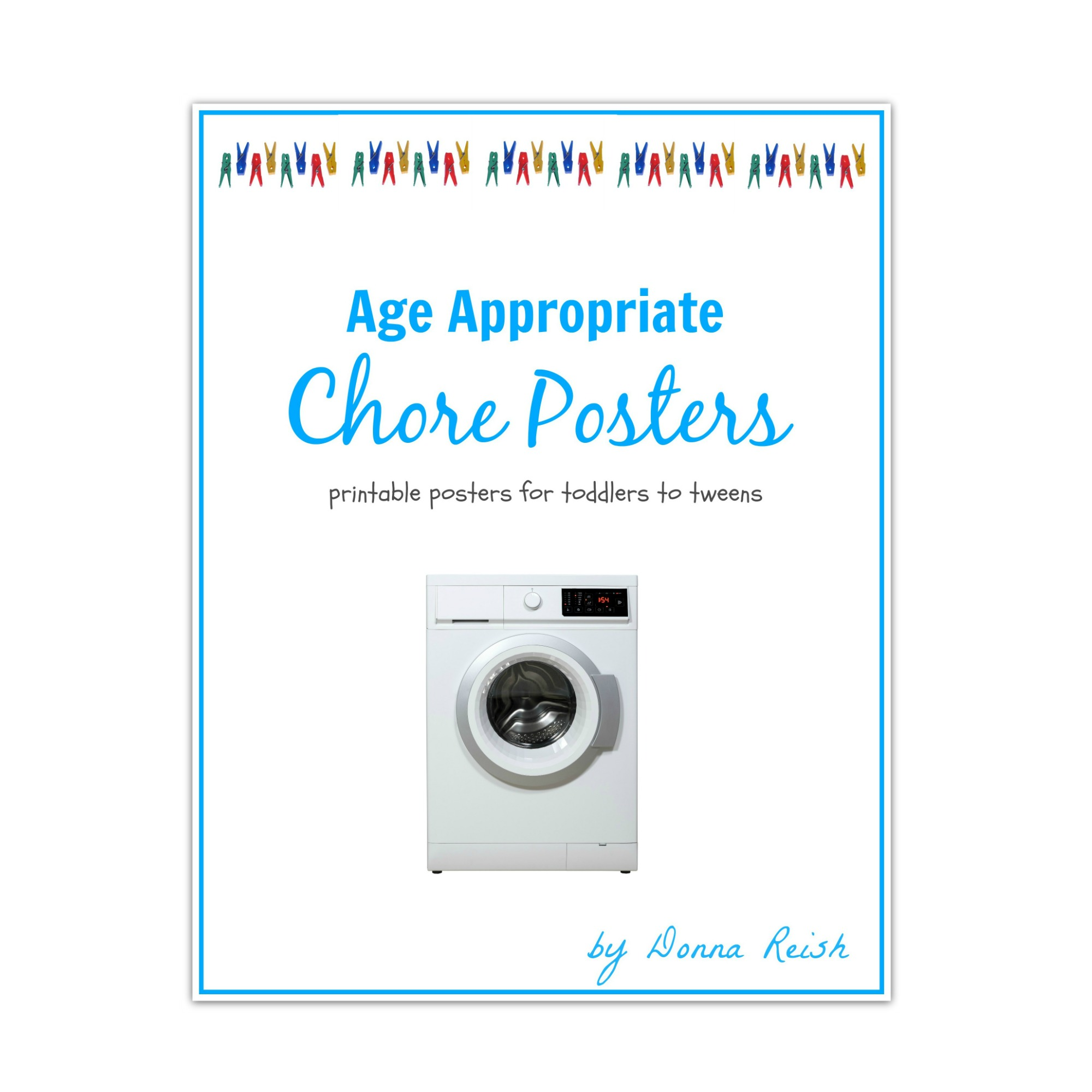 image about Printable Posters identified as Age Suitable Printable Chore Posters