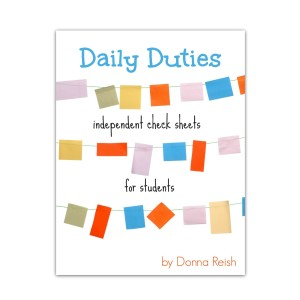 Daily Duties Independent Check Sheets for Students store