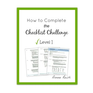 How To Complete the Checklist Challenge