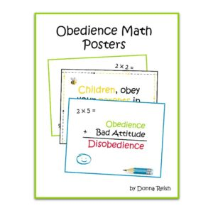 Obedience Math Poster Set