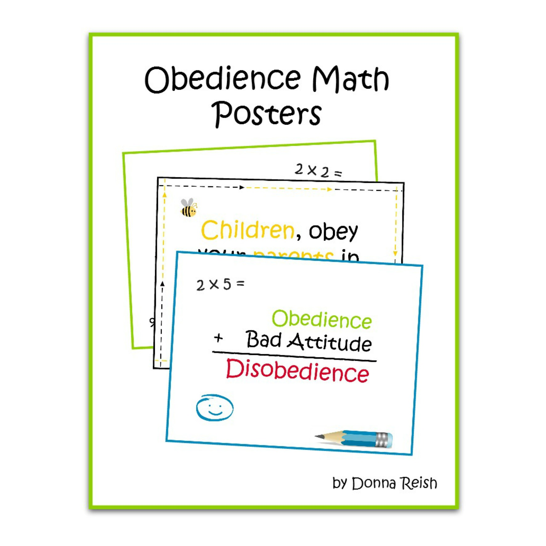 image about Printable Poster identified as Obedience Math Printable Poster Pack