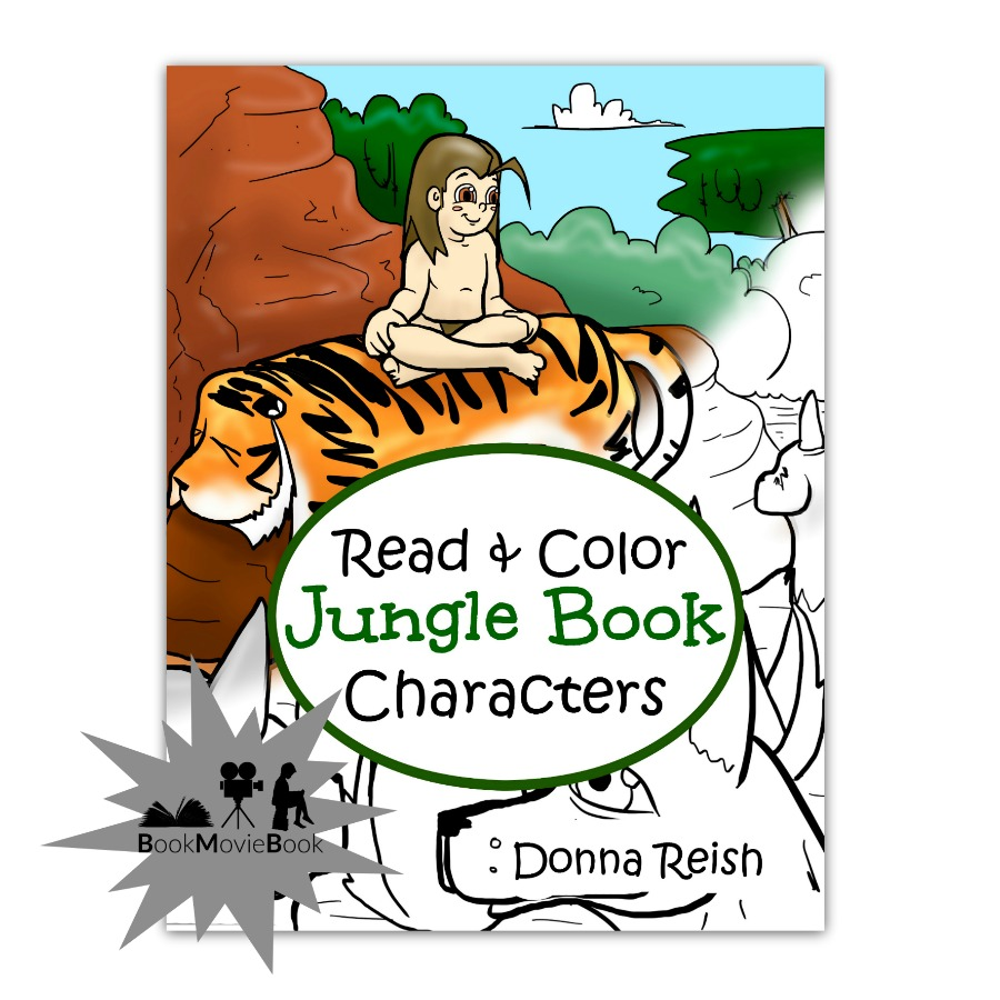 Read and Color Jungle Book Characters