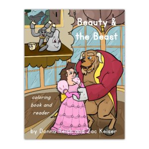 Store Beauty & the Beast Coloring Book Cover